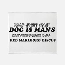 Red Marlboro Discus designs Throw Blanket