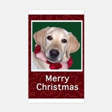 Yellow Labrador Puppy Christmas Decal