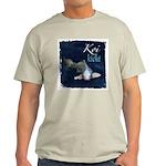 White Koi Ash Grey T-Shirt