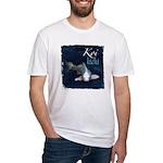 White Koi Fitted T-Shirt