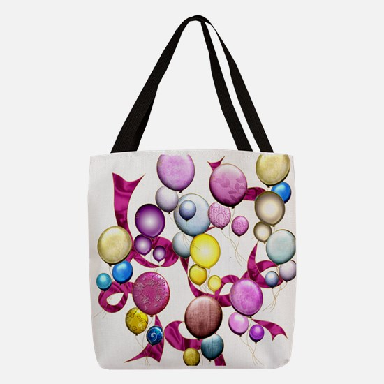 Harvest Moons Rose Balloons Polyester Tote Bag