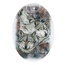 Wolf III Oval Ornament