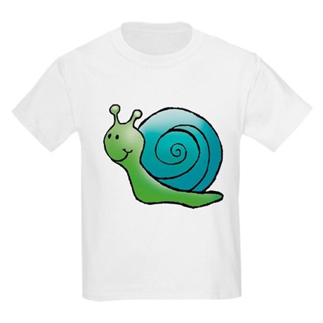 Green and Turquoise Snail Kids T-Shirt
