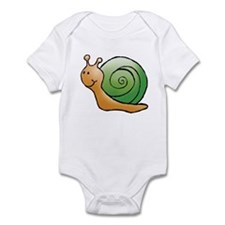 Orange and Green Snail Infant Bodysuit