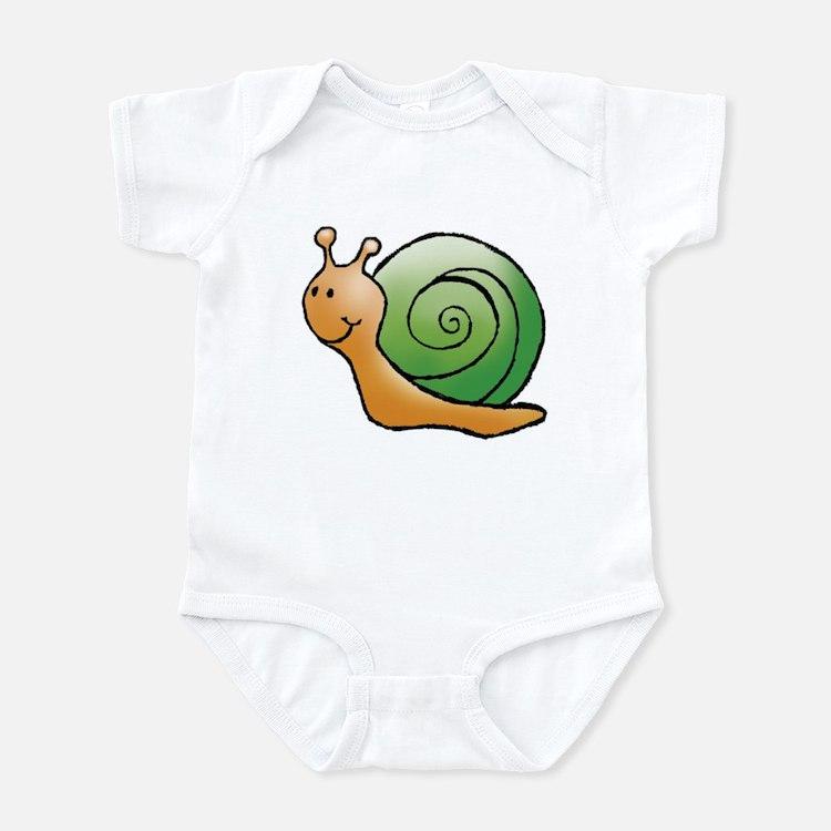 Orange and Green Snail Infant Bodysuit