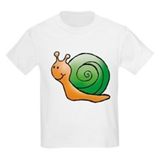 Orange and Green Snail Kids T-Shirt