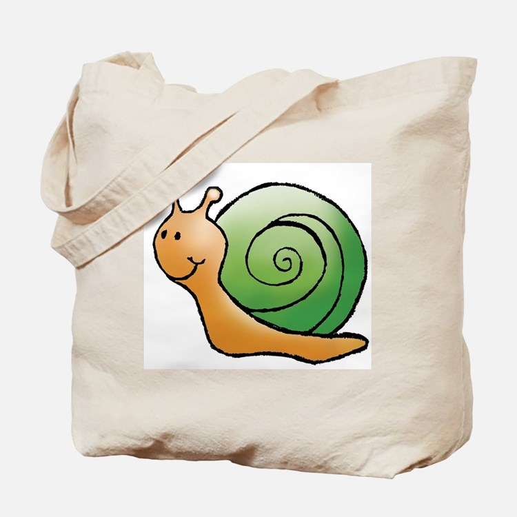 Orange and Green Snail Tote Bag