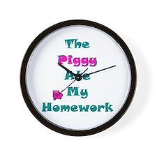 Homework Excuse Wall Clock