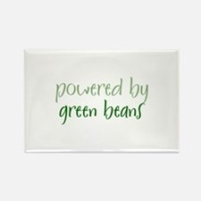 Powered By green beans Rectangle Magnet