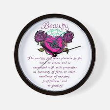 Beauty Is In The Heart Wall Clock