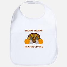Happy Happy Thanksgiving Bib