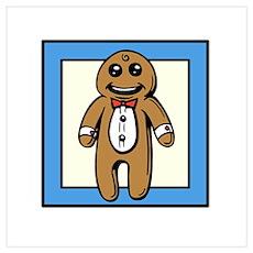 Gingerbread Man Wall Art Poster