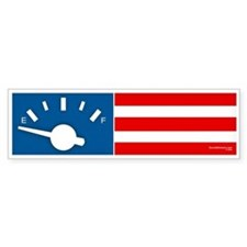"""America on Empty"" Bumper Bumper Sticker"