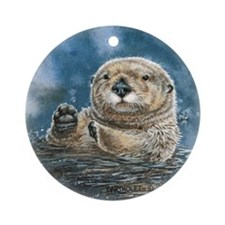 Sea Otter Ornament (Round)