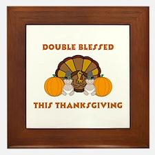 Double Blessed Thanksgiving Framed Tile