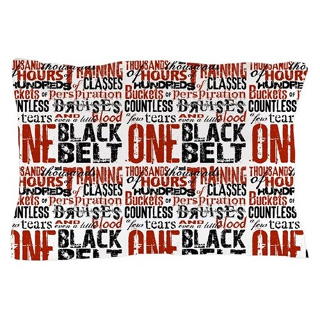 One Black Belt Pillow Case