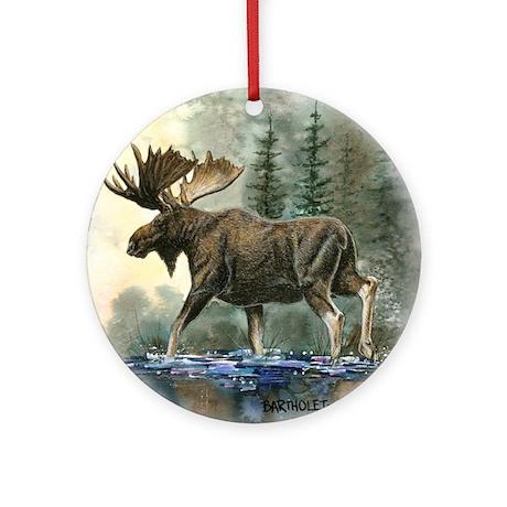 Moose Ornament (Round)