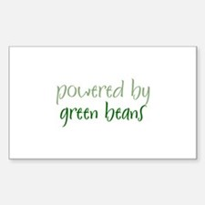 Powered By green beans Rectangle Decal