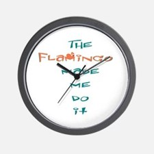 Blame the flamingo Wall Clock