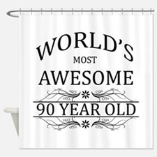 World's Most Awesome 90 Year Old Shower Curtain