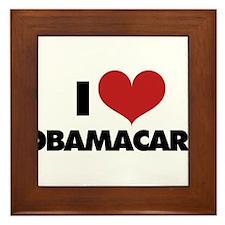 I love Obamacare Framed Tile