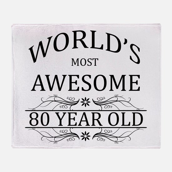 World's Most Awesome 80 Year Old Throw Blanket