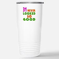 31 Birthday Designs Travel Mug