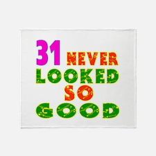 31 Birthday Designs Throw Blanket