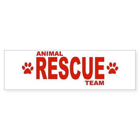 Animal Rescue Team Red Bumper Sticker