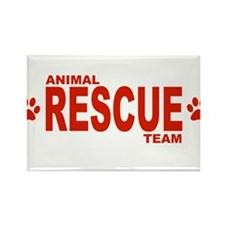Animal Rescue Team Red Rectangle Magnet