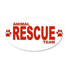 Animal Rescue Team Red Oval Car Magnet