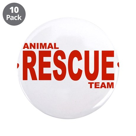 """Animal Rescue Team Red 3.5"""" Button (10 pack)"""