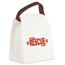 Animal Rescue Team Red Canvas Lunch Bag