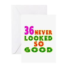 36 Birthday Designs Greeting Card