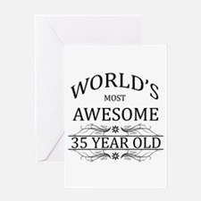World's Most Awesome 35 Year Old Greeting Card