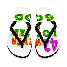 42 Birthday Designs Flip Flops