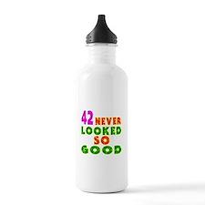 42 Birthday Designs Water Bottle