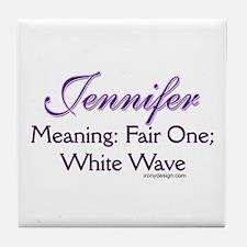 Jennifer - Name Meaning Personalized Tile Coaster