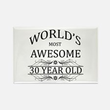 World's Most Awesome 30 Year Old Rectangle Magnet