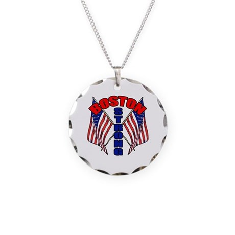 Boston Strong Necklace Circle Charm