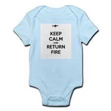 Keep Calm and Return Fire Infant Bodysuit