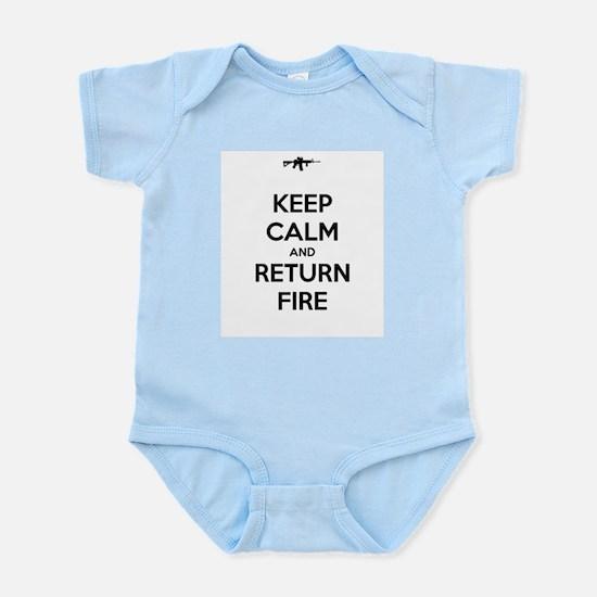 Keep Calm and Return Fire Infant Bodysuit