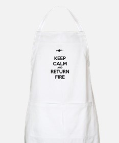 Keep Calm and Return Fire Apron