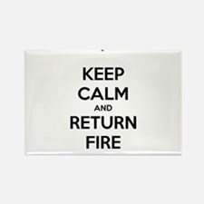Keep Calm and Return Fire Rectangle Magnet
