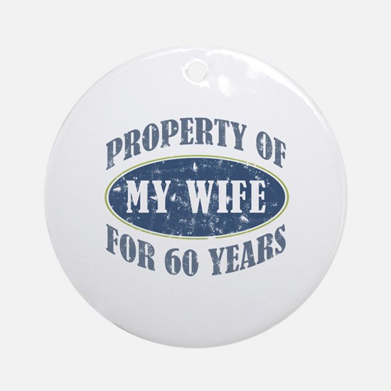 Funny 60th Anniversary Ornament (Round)