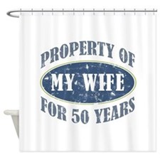 Funny 50th Anniversary Shower Curtain