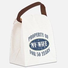Funny 50th Anniversary Canvas Lunch Bag