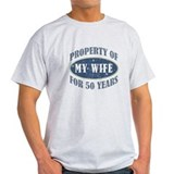 50th anniversary for husband Mens Light T-shirts