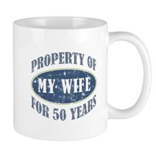Funny 50th Anniversary Small Mugs