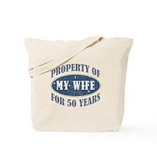 Funny 50th Anniversary Tote Bag